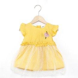 $enCountryForm.capitalKeyWord Australia - 0-3 Years Old Summer Suit Mini Dress for baby girls beatiful floral short sleeve dress Kids Toddler Girl