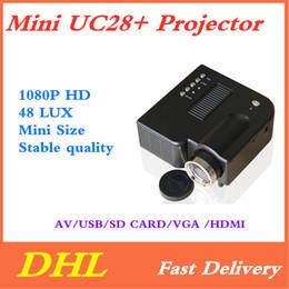 $enCountryForm.capitalKeyWord Australia - Mini UC28+ Projector Portable 1080P HD Projector Home Cinema Theater Multi-media Player 1080P Home Theater Game Supports VGA HDMI USB TF