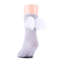 $enCountryForm.capitalKeyWord UK - Winter Baby Girls Boys Angel Wings Ruffles Soft Knee High Leg Warmer Socks Toddler Cotton Socks Stockings For Kids