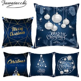 $enCountryForm.capitalKeyWord Australia - Fuwatacchi Christmas Decorations for Home Mat Snowflake Pillowcase Polyester Home Sofa Chair Pillows Elk Pillow Cover Christmas