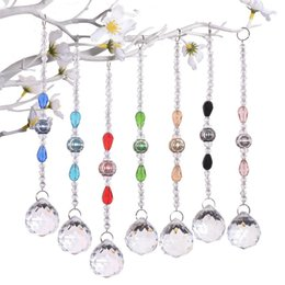 car window rubbers UK - 1Pc Exquisite Crystal Ball Pendant Door Window Decoative Crystal Pendant Ornament Home Car Decor Dream Catcher Wind Chime DIY