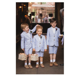 Kids Ivory Suit Australia - Boys Suits Slim Fit Tuxedo for Wedding 2 Piece Kids Formal Wear Holiday Outfits Dressy Daisy Boy Dress Suits (shorts+jacke)t