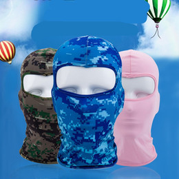 Wholesale force mask resale online - Motorcycle Mask Elastic Force Summer Sunscreen Dustproof Facepiece Headgear Ventilation Riding Accessories hot sale wl UU
