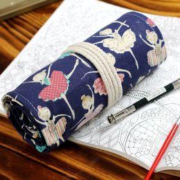 $enCountryForm.capitalKeyWord Australia - 36 48 72 Holes Roll Pencil Pouch Penalties Cute Stationery Pencil Case Bag Maple Deer Kawaii Pen Wrap School Supplies Kids Gift