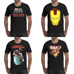 $enCountryForm.capitalKeyWord Australia - Mens printing Urban Outfitters Junk Food Iron Man black t shirt Design Slim fit Crazy Shirts Cartoon The Invincible face Marvel Studios