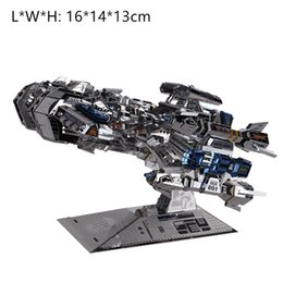 diy boys toys UK - 3D metal puzzles DIY boy toy and gift Terran warship starship model high level silver blue