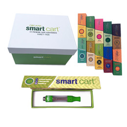 e smart vape pen wholesale Australia - 1ml Ceramic Smartbud Smart Cart Vape Cartridges Magnetic Box Dab Pen Wax Vaporizer Glass Tank Atomizers 510 Thread Battery For E Cig