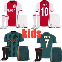 $enCountryForm.capitalKeyWord Australia - 19-20 newest Ajax kids full kit +socks soccer jersey 2019 2020 football kits 19 20 TADIC VAN DE BEEK ZIYECH NOURI NERES boy shirts