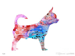 $enCountryForm.capitalKeyWord Australia - -chihuahua-2-ART-Unframed Modern Canvas Wall Art for Home and Office Decoration,Painting ,Animal painting ,Frame painting