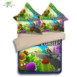 $enCountryForm.capitalKeyWord Australia - MING JIE 2017 3D anime boys bedding set Plants vs zombies Children bed Twin Full Queen size 2 3pcs coverlet Pillow Case Hot sale