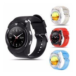 Smart Watch Phone Android Sim Australia - Smart Watch V8 Men Bluetooth Sport Watches Women Ladies Rel gio Smartwatch with Camera Sim Card Slot Android Phone PK DZ09 Y1 A1