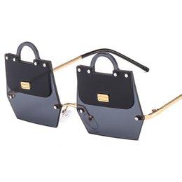 $enCountryForm.capitalKeyWord NZ - Luxury Shopping Bag Design Fashion Sunglasses Classy Ladies Rimless Designer Sun Glasses
