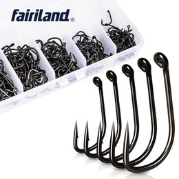 $enCountryForm.capitalKeyWord NZ - hook cable 250pcs Lot TFSH-B #2 #4 #6 #8 #10 Barbed Hooks set TEFLON Coated high carbon steel Carp Fishing Hook w  free