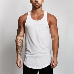 9548ad77 New Gyms Tank Tops Mens Solid Mesh Bodybuilding Clothes Fitness Men Singlet  Sleeveless Cotton Workout Stringer Gyms Shirts