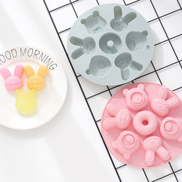 $enCountryForm.capitalKeyWord Australia - Silicone Rice Pudding Cake Decorating Moulds Cartoon Baby Food Supplement Steamed Cake Baking Decorating Tools Ice Cube