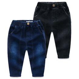 $enCountryForm.capitalKeyWord NZ - Jeans Trousers For Men With Jeans Leggings Solid Color Denim Trousers Childrens Pants Long Pants Wholesale