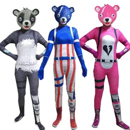 panda woman costume Australia - Fortress Of Night Pink Panda Female Team Leader Human Skeleton Cavalry Halloween Cosplay Tight Fitting Clothes