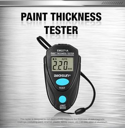 Paint coating thickness tester online shopping - 100 Original All sun EM2271A Handheld Painting Thickness Gauge Automotive Coating Thick Tester Portable Tool Better Than em2271