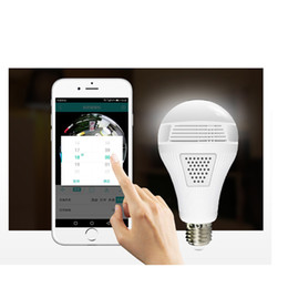 Wholesale 960p 1080P 360 Security wifi Camera Lamp Panoramic Bulb IP CCTV Video Surveillance Fisheye HD Night Vision Two Way Audio