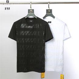 8f0ba62cdc8 Hombres camiseta Miedo gótico Falso Dos Patchwork Negro   blanco Ropa de  marca Hip Hop Hombres cortos Camiseta fen West of God