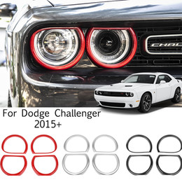 Wholesale Car Headlight Ring ABS Decoration Cover For Dodge Challenger 2015 UP Factory Outlet Car Interior Accessories