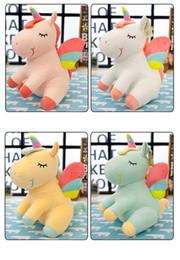 $enCountryForm.capitalKeyWord Australia - Cartoon Lying Unicorn Plush Toy Soft Doll Cute 40cm angel Stuffed Animal Unicorn Cuddle Appease Sleeping Horse Pillow Gift Children K0245-1