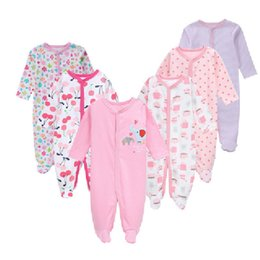 $enCountryForm.capitalKeyWord NZ - 6pcs Newborn Baby Girl Romper Winter Baby Boy Jumpsuit 100% Cotton Underwear Clothing Baby Rompers Warm Costume Clothes Y19061303