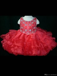 $enCountryForm.capitalKeyWord Australia - Sexy Toddler Girl's Pageant Dresses Organza Cupcake Kids Prom Gowns Crystal Beaded Open Back With Bow Formal Girls Birthday Party Dresses