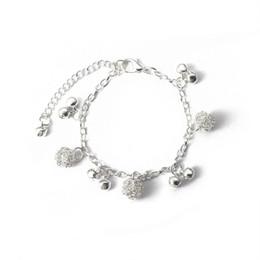 Ball Bangles Australia - National chime alloy ball plating thick silver bracelet Bangle bracelet simple adjustable Bracelets for women jewelry Wrap