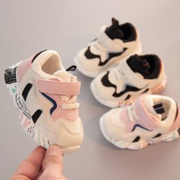 buckled sneakers Canada - Designer V2 Children Shoes 12cm-14cm Baby Toddler Run Kids Sneakers Kanye West YZ500 First Walker Shoes Infant Boys Girls Shoes