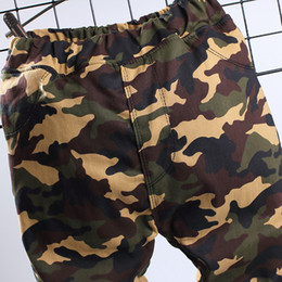 Camouflage pants for boys online shopping - Boys Girls Jeans Thicken Camouflage Pants Long New Brand Winter Fleece Cotton Warm Trouser Fashion Clothes for Years