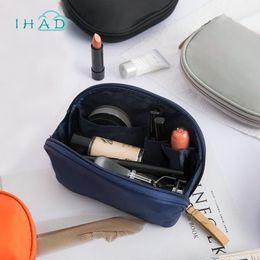 $enCountryForm.capitalKeyWord Australia - Mini Travel Cosmetic Bag Half-round Portable Large Capacity Makeup Organizer Bag Nylon Hand Finishing Package Fashion Shell