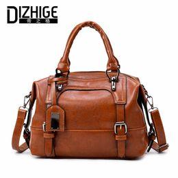 $enCountryForm.capitalKeyWord Australia - Dizhige Brand Boston Women Bag Vintage Four Belts Shoulder Bags Sequined Women Handbags Designer Pu Leather Bags Ladies 2017 New Y19061204