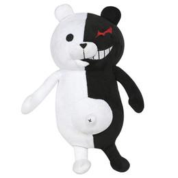 Wholesale Toys Plush Bears UK - New White & Black Bear Plush Toys Big Soft Toys For Children