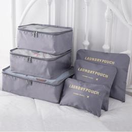 $enCountryForm.capitalKeyWord Australia - Multi-function Travel Bag 6 Piece Suit Waterproof Clothing Underwear Cosmetic Finishing Bag Large Capacity Unisex Travel Luggage