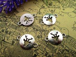 $enCountryForm.capitalKeyWord Australia - 25pcs--Reindeer charms, Antique Tibetan Silver Reindeer Connector Charm 23x16mm