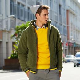Wholesale mens fur lined jackets resale online - 2019 Autumn Winter Mens Women Fur Lined Jackets Long Sleeve Faux Fur Wool Coats Adults Zipper Thick Fleece Parka Outerwear