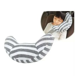 travel neck pillow kids Australia - Car Seat Travel Pillow Neck Support Cushion Pad And Seatbelt Adjuster For Kids