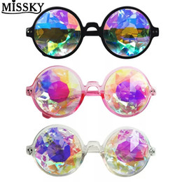 cosplay goggles 2019 - MISSKY HOT Cool Retro Round Kaleidoscope Sunglasses Fashion Unique Cosplay Goggles for Friends Gift Women Sunglasses che