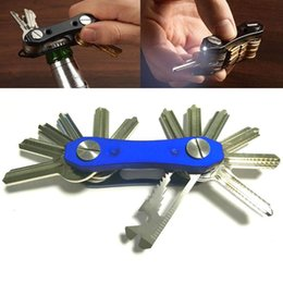 bottle lights UK - Multifunctional Portable Key Clip with LED Light Key Storage Tool Bottle Opener