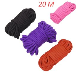 $enCountryForm.capitalKeyWord UK - 20 Meters Long Restraint Bondage Ropes Thick Strong Cotton Rope Fetish Sex Harness Flirting SM Adult Game Sex Toys for Couples
