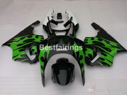 Kawasaki Zx7r Green Australia - New hot body parts fairings for Kawasaki Ninja ZX7R 96 97 98 99 00-03 green flames black fairing kit ZX7R 1996-2003 TY39