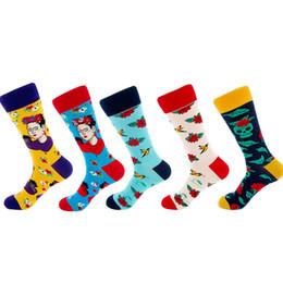 $enCountryForm.capitalKeyWord UK - Men Funny socks Indian Pattern Fashion Warm Happy Socks Men Winter Hip-Hop Street Wear Cool Sock Long 5pairs  lot plus size 2019