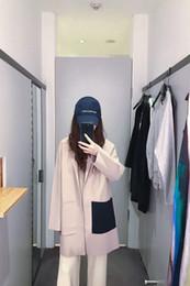 $enCountryForm.capitalKeyWord NZ - Women Spring Blazers Office Lady Pockets Jacket Ladies Leisure Blazer Loose Simple Coat Streetwear