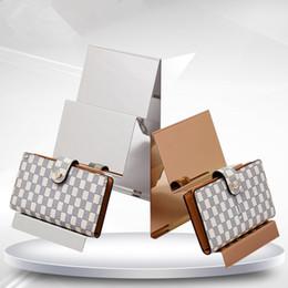Metal floor display online shopping - Wallet Display Rack Handbag Display Stand Stainless Steel Metal Monolayer Bag Display Holder Rack furniture accessories LX0789