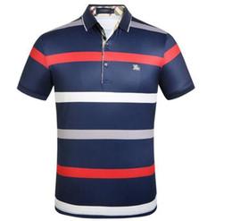 G2p Moda Burburry Men \ 's Polos Casual Curto-manga Nova Nova Lapela T-shirt Dos Homens Desgaste Pólo Camisa de Manga Curta Marca Camisola em Promoção