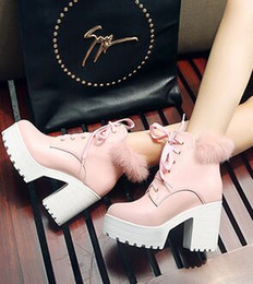 $enCountryForm.capitalKeyWord Australia - New Arrival Hot Sale Specials Super Fashion Influx Martin Cowgirl Beauty Rabbit Hair Princess Leather Platform Thicken Ankle Boots EU34-43