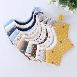 $enCountryForm.capitalKeyWord Australia - New design kids saliva towels cotton cartoon dot 3 layer star rotate burp cloths top quality