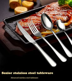 cutlery stainless steel box Australia - Hot Sale 24 Pcs set No box packaging Dinnerware Stainless Steel Western knife Cutlery Kitchen Food Tableware Dinner Set T191014
