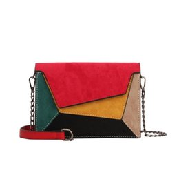 $enCountryForm.capitalKeyWord Australia - Quality Leather Patchwork Women Messenger Bag Pop Vogue Female Chain Strap Shoulder Bag Small Criss-cross Ladies Flap Bag